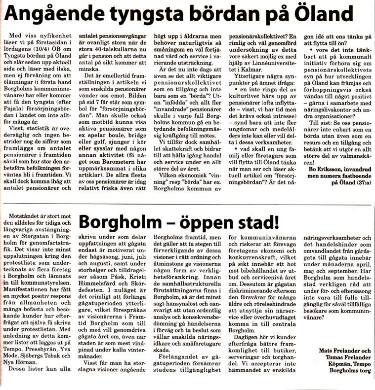 Ölandsbladet: Stefan Olof Lundgren Texter Rallaskogen
